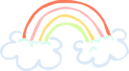 PNG Rainbow With Clouds