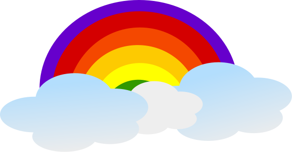 PNG Rainbow With Clouds - 65033