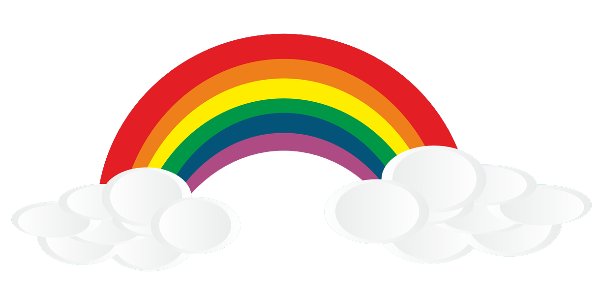 PNG Rainbow With Clouds - 65032