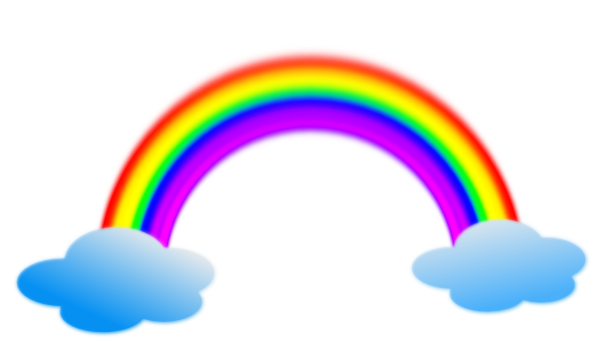 PNG: small · medium · large - PNG Rainbow With Clouds