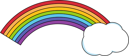 PNG Rainbow With Clouds - 65038