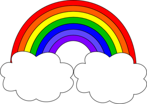 Rainbow With Clouds Clip Art - PNG Rainbow With Clouds