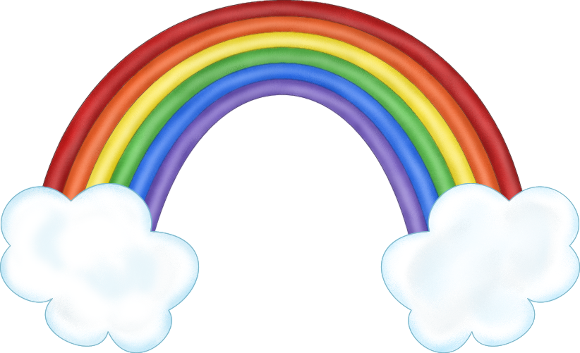 PNG Rainbow With Clouds - 65036