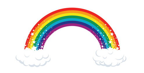 PNG Rainbow With Clouds - 65040