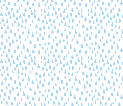 Dancing in the Rain - Blue Raindrops fabric by ceciliamok on Spoonflower -  custom fabric - PNG Raindrops