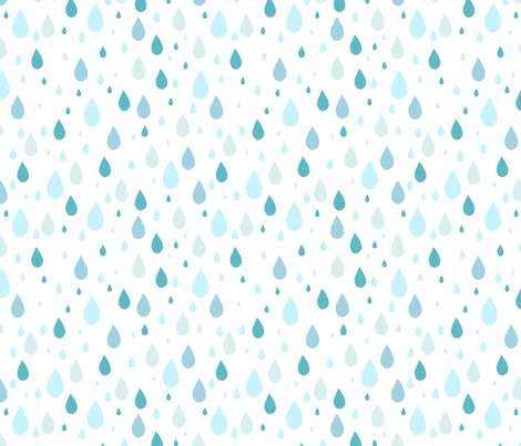 raindrops-3 fabric by kittenstitches on Spoonflower - custom fabric - PNG Raindrops