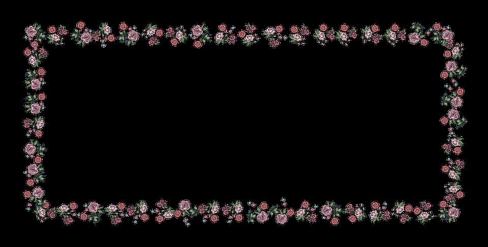 PNG Rammer Med Blomster - 43980
