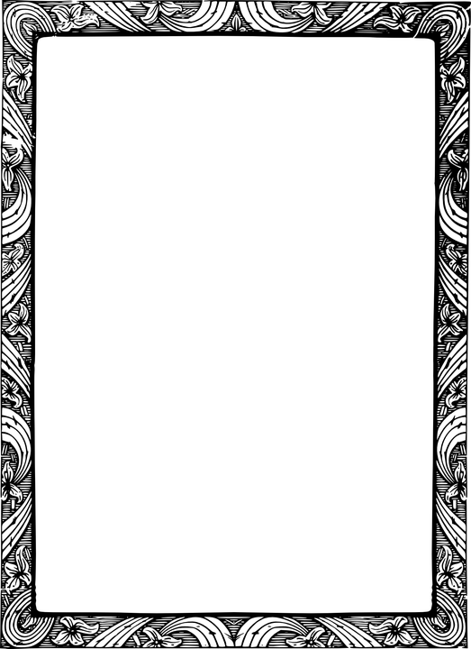 PNG Rammer Med Blomster - 43984