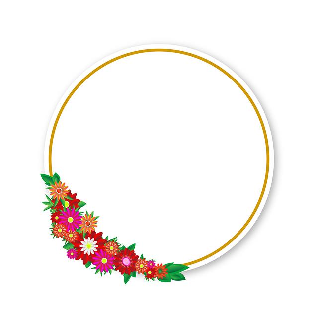 Gratis illustration: Blomster, Sticker, Ramme, Element - Gratis billede på  Pixabay - 2286373 - PNG Rammer Med Blomster