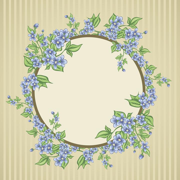 Kort, Blomster, Buket, Ramme, Baggrund, Vintage, Sommer - PNG Rammer Med Blomster