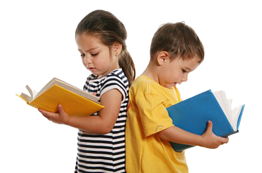 Child Reading. - PNG Reading Children