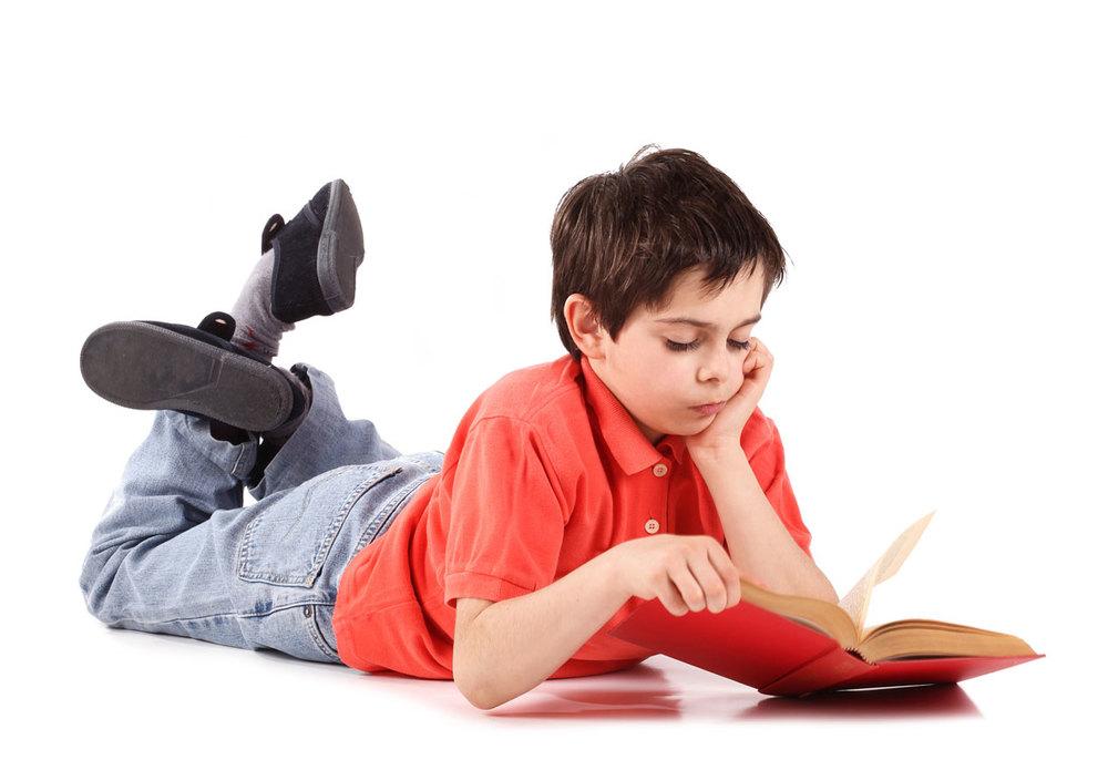 four children reading
