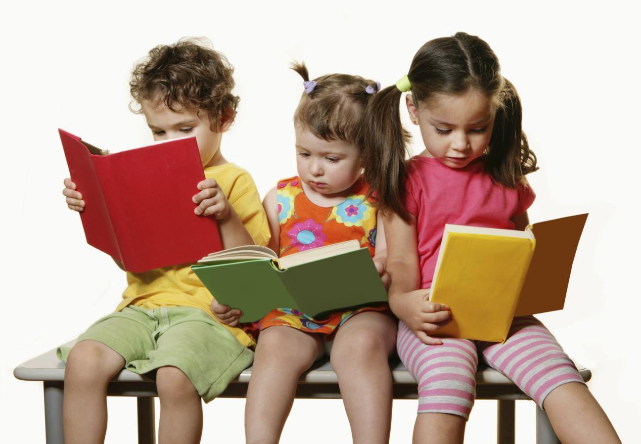 Kids reading books - PNG Reading Children