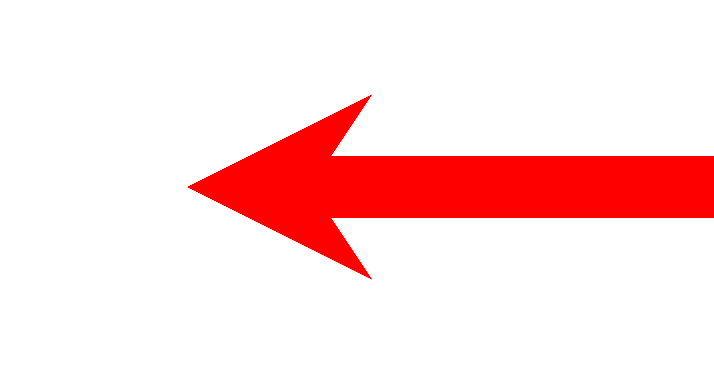 File:Short Left Arrow - Red.png - PNG Red Arrow