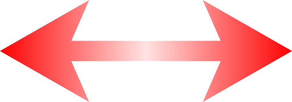 Red Arrow, Left And Right, Special Characters, Red - PNG Red Arrow