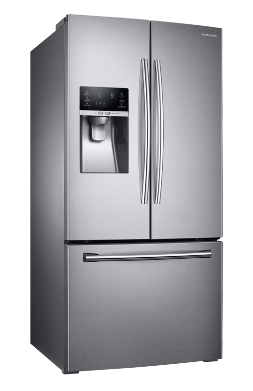 Samsung 25.5cu.ft French Door Refrigerator with Water and Ice Dispenser -  RF26J7500SRAA - 00335155 | EconoMax - PNG Refrigerator