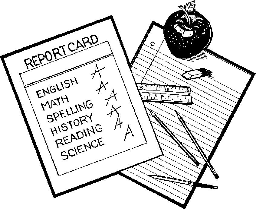 report card clipart - PNG Report Card