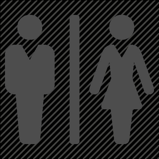 airport, bathroom, man, restroom, toilet, wc, woman icon - PNG Restroom