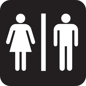 Men Women Bathroom 2 Clip Art - PNG Restroom