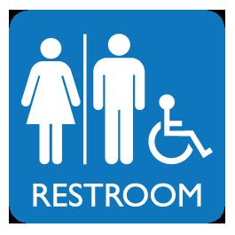 Unisex Restroom Sign Decal image #42384 - PNG Restroom