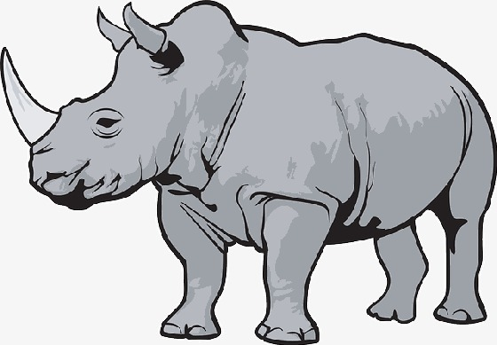 Cartoon rhino, Mammal, Animal Rhino, Rhinoceros Free PNG Image - PNG Rhino
