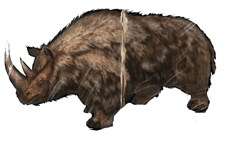 Image - 800px-Woolly Rhino 1.png | ARK: Survival Evolved Wiki | FANDOM  powered by Wikia - PNG Rhino