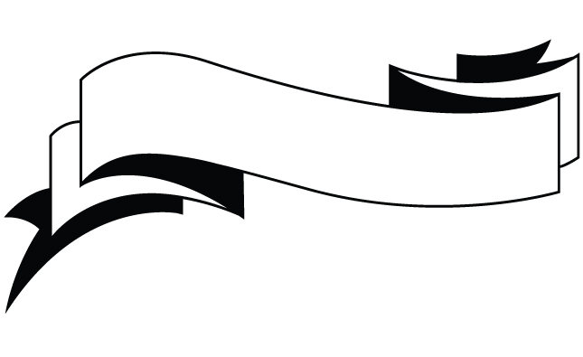 PNG Ribbon Black And White