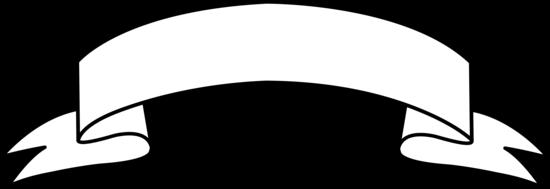 Ribbon banner clipart black a