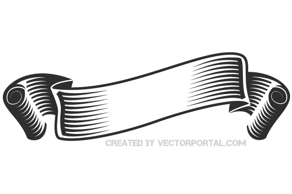 PNG Ribbon Black And White - 70450