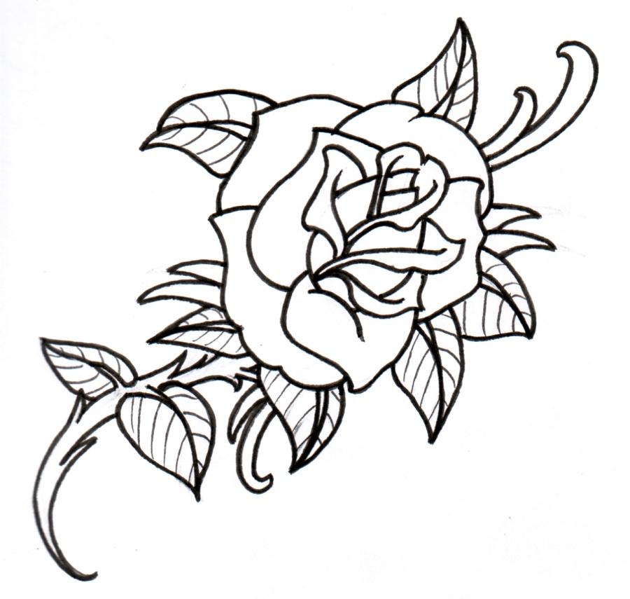 PNG Rose Outline - 75384