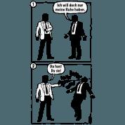 Cartoon: Ich will doch nur meine Ruhe haben. (PNG) - PNG Ruhe