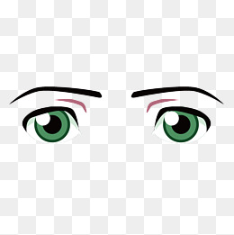 Vector cartoon green sad eyes look, Vector, Cartoon, Green PNG and Vector - PNG Sad Eyes