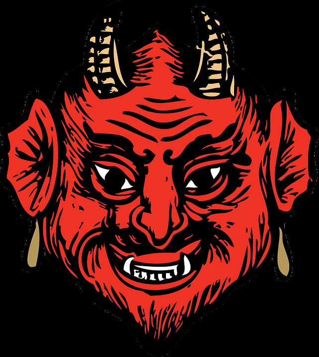 Head, Face, Devil, Horns, Teeth, Satan, Canines, Red - PNG Satan