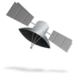 256x256px; 128x128 of Satellite - PNG Satellite
