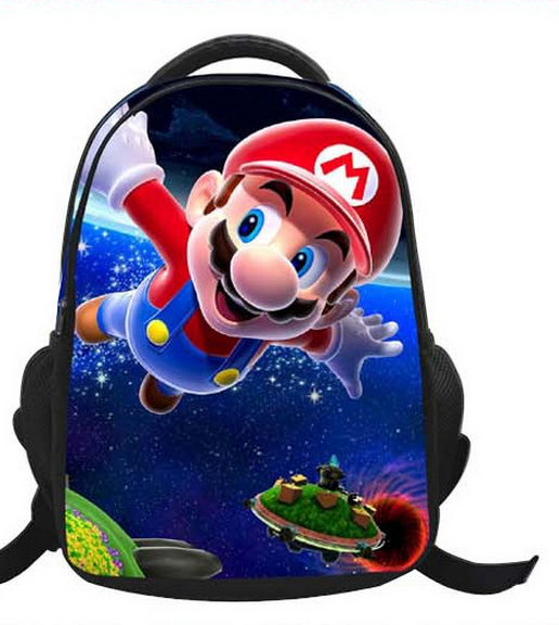 16-Inch Cartoon Children Kids Backpacks Cartoon Super Mario Bag School For  Girls Boys Teenagers - PNG School Bag