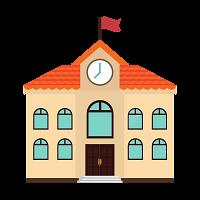 Building Icon School and Education Design - PNG School Building