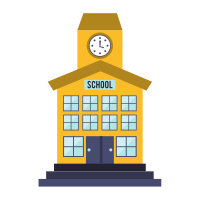 School Building Isolated Icon - PNG School Building