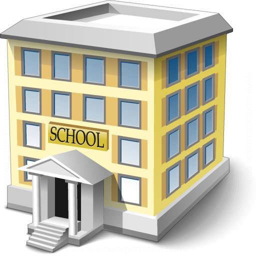 School Icon - PNG School Building
