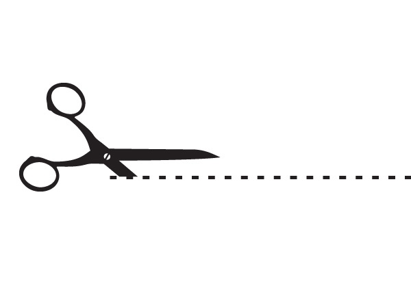 PNG Scissors Cutting Dotted Line