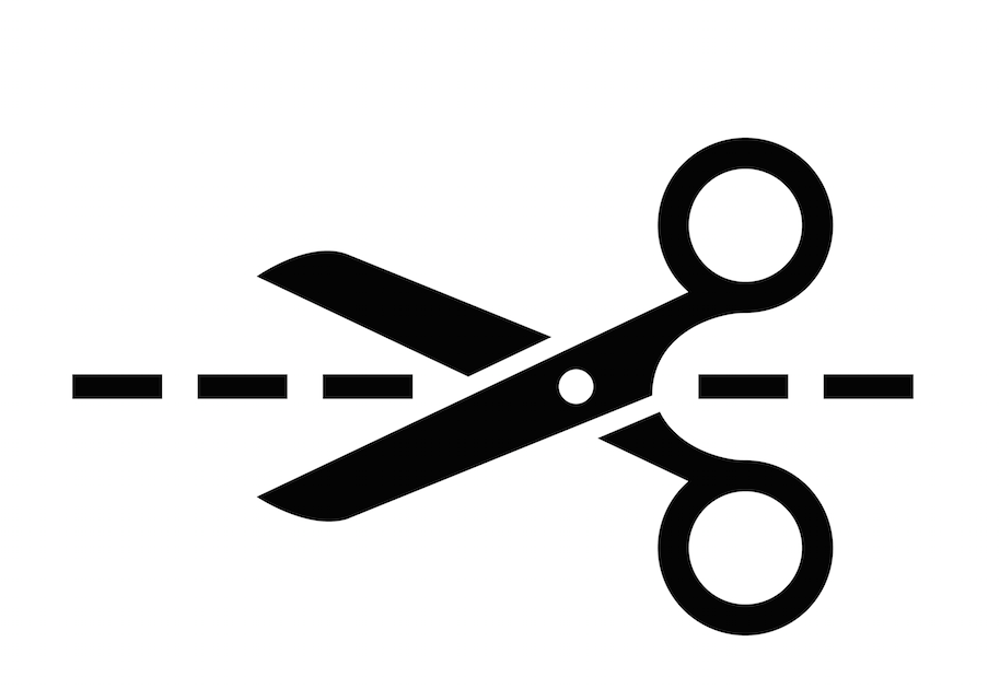Scissors cutting along a dotted line - PNG Scissors Cutting Dotted Line