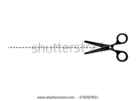 The scissors icon. Cut here symbol. Scissors and dotted line. Cut Here  Scissors - PNG Scissors Cutting Dotted Line
