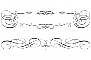 Calligraphic Swirly Scroll Frame and Border Vector | free vectors | UI  Download - PNG Scroll Border
