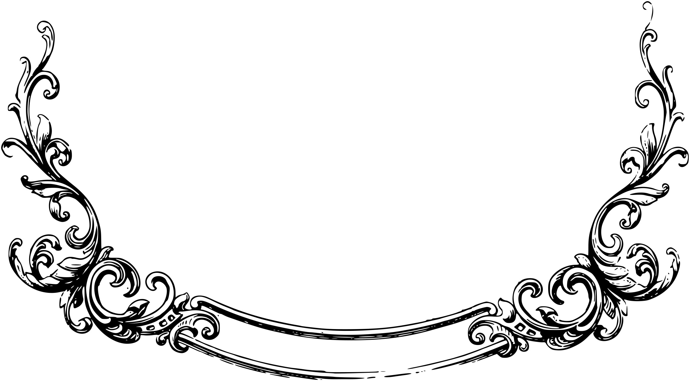 pin Frame clipart scrollwork #6 - PNG Scroll Border