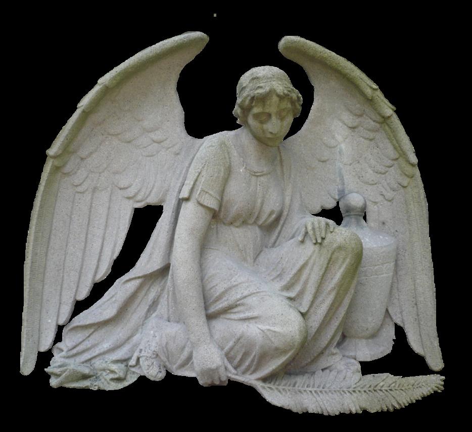 angel sculpture png by erdmute PlusPng.com  - PNG Sculpture
