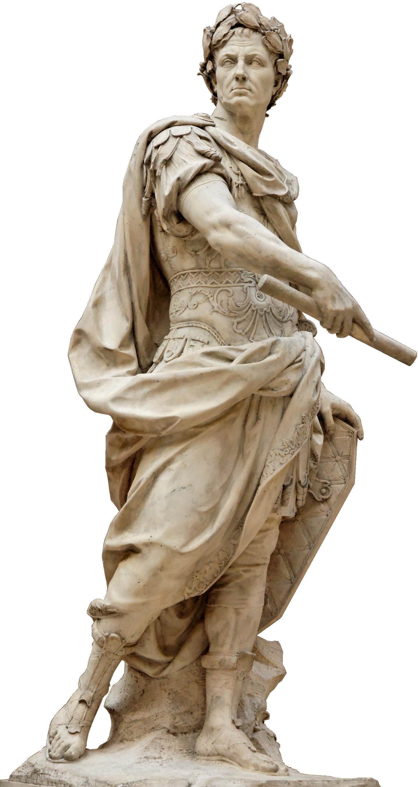File:Julius Caesar Coustou Louvre.png - PNG Sculpture