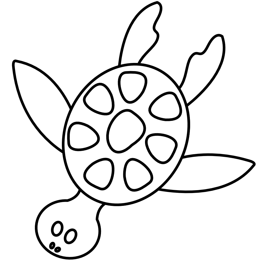 Clipart Turtle Black And White Images Pictures - Becuo - PNG Sea Black And White