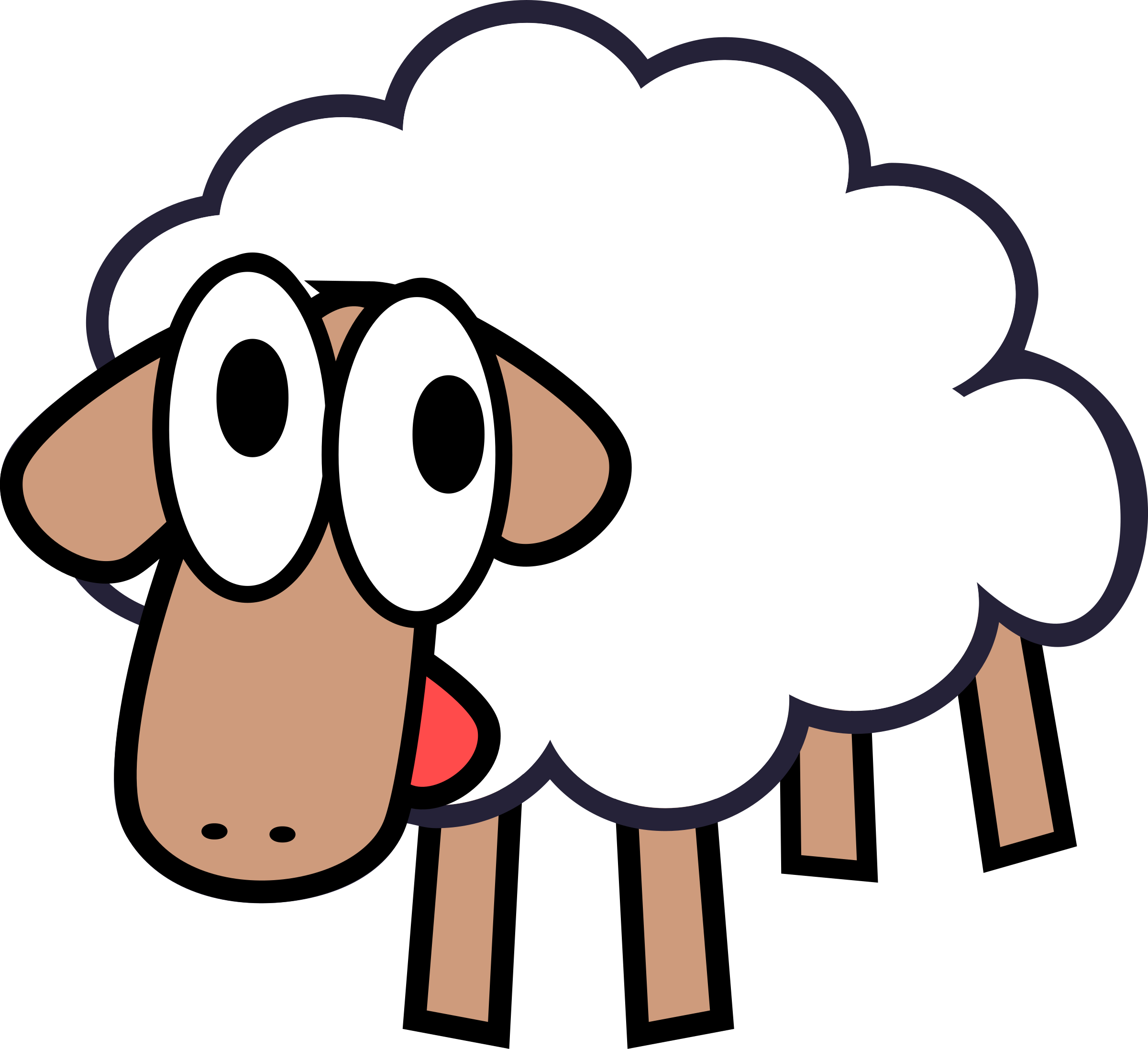 BIG IMAGE (PNG) - PNG Sheep Cartoon
