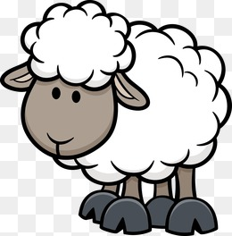 cartoon animals, Poultry And Livestock, Cartoon Animals, Sheep PNG and  Vector - PNG Sheep Cartoon