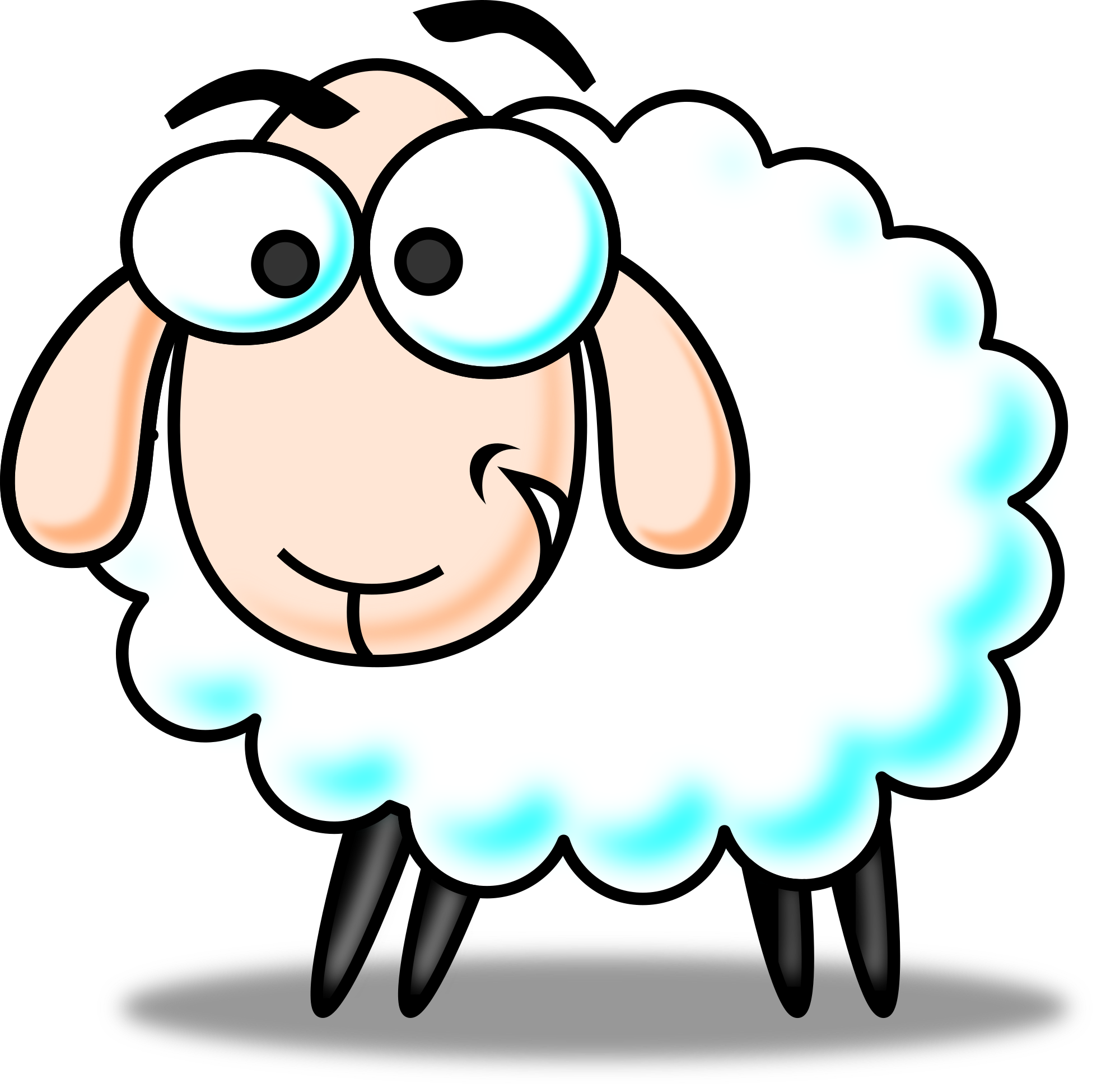 Free Cartoon Sheep Clip Art Free Vector For Free Download About - PNG Sheep Cartoon