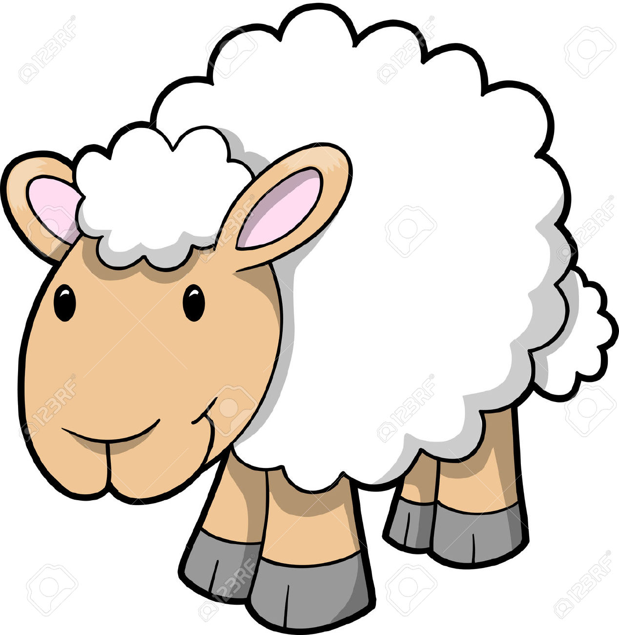 pin Sheep clipart cartoon #1